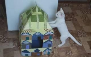 Как сшить домик для кошки своими руками