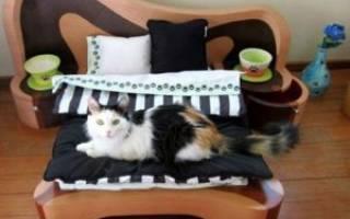 Как сделать кроватку для кошки